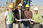 Surveyor and construction workers on site, portrait Stock Photo - Premium Royalty-Free, Artist: Robert Harding Images, Code: 693-06016803