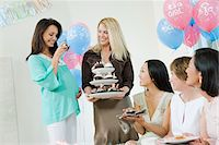 pregnant asian - Women at a Baby Shower with Cupcakes Stock Photo - Premium Royalty-Freenull, Code: 693-06017182