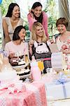 Pregnant Woman with friends at a Baby Shower Stock Photo - Premium Royalty-Free, Artist: Blend Images, Code: 693-06017207