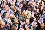 Crowd holding American flags Stock Photo - Premium Royalty-Free, Artist: Alberto Biscaro, Code: 693-06017565