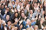 Crowd with arms raised Stock Photo - Premium Royalty-Free, Artist: CulturaRM, Code: 693-06017567
