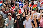Crowd holding up National flags Stock Photo - Premium Royalty-Free, Artist: Aflo Sport, Code: 693-06017618