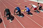 Male sprinters in starting blocks Stock Photo - Premium Royalty-Free, Artist: Aflo Sport, Code: 693-06017675