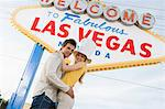 Couple having fun in Las Vegas, Nevada, USA Stock Photo - Premium Royalty-Free, Artist: Westend61, Code: 693-06018107