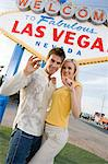 Couple having fun in Las Vegas, Nevada, USA Stock Photo - Premium Royalty-Free, Artist: Aflo Relax, Code: 693-06018111