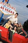 Friends having fun in Las Vegas, Nevada, USA Stock Photo - Premium Royalty-Free, Artist: Westend61, Code: 693-06018125