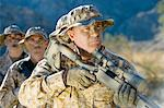 Soldiers on patrol, outdoors Stock Photo - Premium Royalty-Freenull, Code: 693-06018191