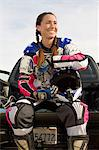 Female motocross racer, outdoors Stock Photo - Premium Royalty-Free, Artist: Aflo Sport, Code: 693-06018239