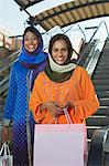 Portrait of two muslim women with shopping bags Stock Photo - Premium Royalty-Free, Artist: Robert Harding Images, Code: 693-06019310