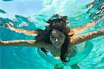 Young woman swimming in pool, underwater view Stock Photo - Premium Royalty-Free, Artist: Cultura RM, Code: 693-06019356