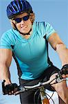 Young man on bicycle outdoors Stock Photo - Premium Royalty-Free, Artist: Ron Fehling, Code: 693-06019491