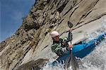 Man kayaking on mountain river Stock Photo - Premium Royalty-Free, Artist: Raimund Linke, Code: 693-06019748