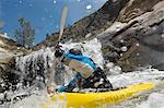 Man kayaking in mountain river Stock Photo - Premium Royalty-Free, Artist: ableimages, Code: 693-06019749