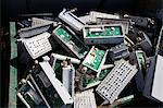 Pile of old electronic components in bin Stock Photo - Premium Royalty-Free, Artist: oliv, Code: 693-06019883