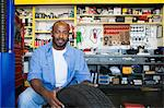 Auto Mechanic Working on a Tire Stock Photo - Premium Royalty-Free, Artist: Blend Images, Code: 693-06020529