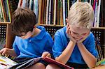 Little Boys Reading Picture Books Stock Photo - Premium Royalty-Free, Artist: CulturaRM, Code: 693-06020604