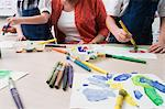 Teacher Watching Students Paint Stock Photo - Premium Royalty-Free, Artist: Blend Images, Code: 693-06020693