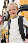 School Boy by School Bus Stock Photo - Premium Royalty-Free, Artist: CulturaRM, Code: 693-06020762