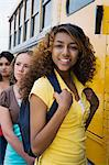 High School Girls Getting On School Bus Stock Photo - Premium Royalty-Free, Artist: CulturaRM, Code: 693-06020778