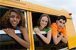 Teenagers on School Bus Stock Photo - Premium Royalty-Free, Artist: AWL Images, Code: 693-06020811