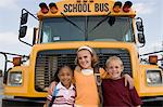 Elementary Students Standing by School Bus Stock Photo - Premium Royalty-Free, Artist: CulturaRM, Code: 693-06020867