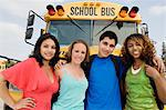 Teenagers by School Bus Stock Photo - Premium Royalty-Free, Artist: Cultura RM, Code: 693-06020885
