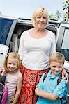 Mother Driving Children to School Stock Photo - Premium Royalty-Free, Artist: Kevin Dodge, Code: 693-06020889