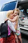 Mother Driving Daughter to School Stock Photo - Premium Royalty-Free, Artist: CRed, Code: 693-06020892