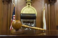 Hammer and gavel near judges chair in court Stock Photo - Premium Royalty-Freenull, Code: 693-06020932