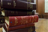 Legal books in court room Stock Photo - Premium Royalty-Freenull, Code: 693-06020933