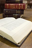 Legal books in court room Stock Photo - Premium Royalty-Freenull, Code: 693-06020935