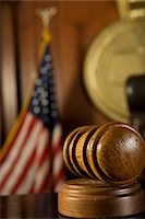 Gavel in court room Stock Photo - Premium Royalty-Freenull, Code: 693-06020999