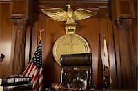 Judges chair in court room Stock Photo - Premium Royalty-Freenull, Code: 693-06021001