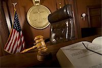 Judges chair in court room Stock Photo - Premium Royalty-Freenull, Code: 693-06021013