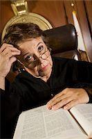 Judge sitting in court Stock Photo - Premium Royalty-Freenull, Code: 693-06021016