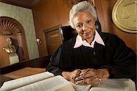 Female judge sitting in court, portrait Stock Photo - Premium Royalty-Freenull, Code: 693-06021041