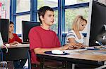 Modern High School Class Stock Photo - Premium Royalty-Free, Artist: Andrew Kolb, Code: 693-06021057