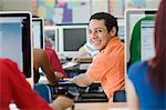 High School Student in Class Stock Photo - Premium Royalty-Free, Artist: Andrew Kolb, Code: 693-06021062