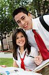 High School Couple Studying Stock Photo - Premium Royalty-Free, Artist: ableimages, Code: 693-06021111
