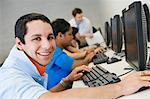 High School Student in Computer Lab Stock Photo - Premium Royalty-Free, Artist: Andrew Kolb, Code: 693-06021161