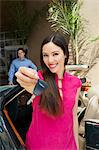 Woman Holding Car Keys Stock Photo - Premium Royalty-Free, Artist: Blend Images, Code: 693-06021206