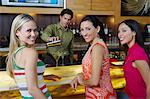 Women at a Bar Stock Photo - Premium Royalty-Freenull, Code: 693-06021222