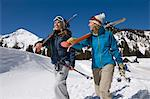 Skiers Carrying Skis on Mountain Stock Photo - Premium Royalty-Free, Artist: Cultura RM, Code: 693-06021230