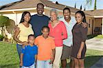 Family outside house, portrait Stock Photo - Premium Royalty-Free, Artist: Siephoto, Code: 693-06021446