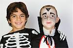 Portrait of boys (7-9) wearing Halloween costumes Stock Photo - Premium Royalty-Free, Artist: Blend Images, Code: 693-06021623