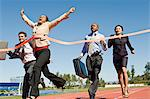 Business People Crossing the Winning Line Stock Photo - Premium Royalty-Free, Artist: Aflo Sport, Code: 693-06021723