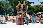 Thai shrine at Chuk Lam Shim Yuen Bamboo Grove Monastery, Tsuen Wan, Hong Kong
