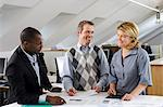 Coworkers having discussion in office Stock Photo - Premium Royalty-Free, Artist: James Wardell, Code: 6102-06025981