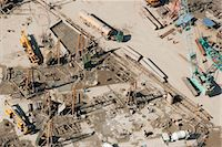 Aerial view of construction site Stock Photo - Premium Royalty-Freenull, Code: 632-06029608