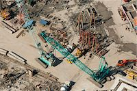 Aerial view of construction site Stock Photo - Premium Royalty-Freenull, Code: 632-06030031